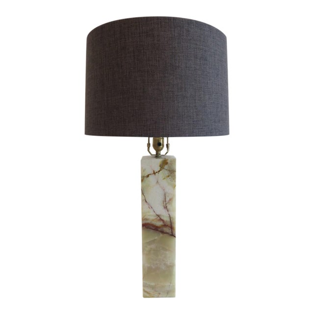 Walter Von Nessen Marble Table Lamp For Sale