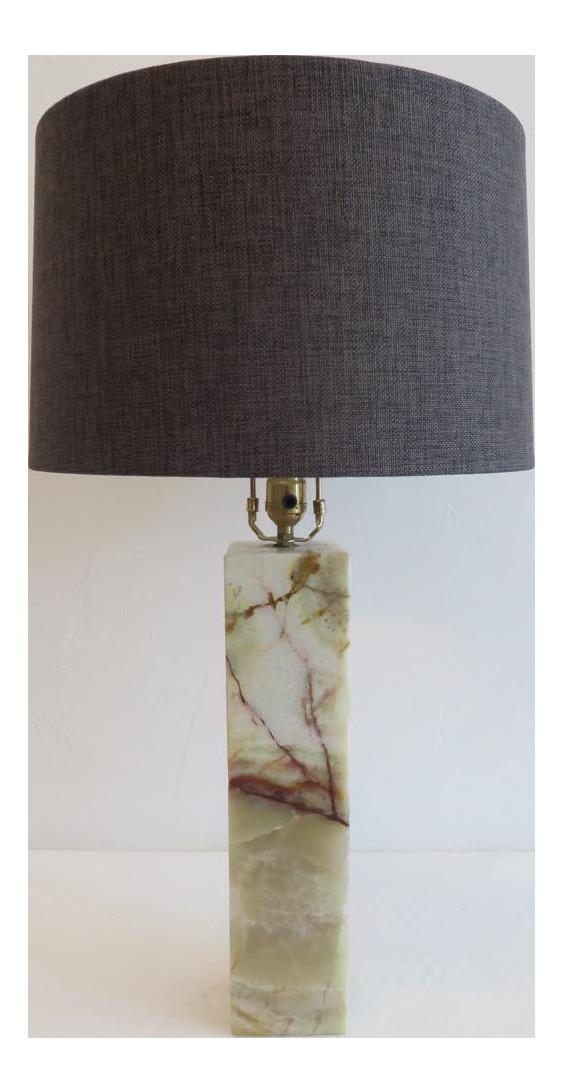 Walter Von Nessen Marble Table Lamp