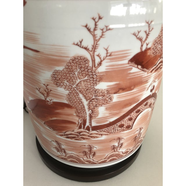 Brass Norman Perry Chinoiserie Ginger Jar Style Lamp For Sale - Image 7 of 13