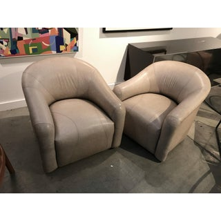 A. Rudin Leather Swivel Chairs - a Pair Preview