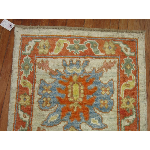 Vintage Turkish Oushak Runner - 2'9'' X 13'5'' - Image 6 of 6