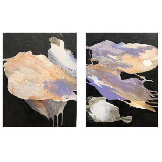 Diptych Painting by Artist Ryan Fugate 2018 For Sale - Image 4 of 4