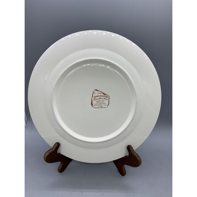 """Plate measures 12"""" in diameter and is in excellent condition with the exception of some slight crazing"""