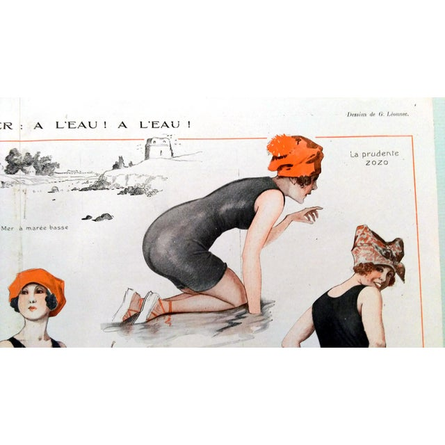 1918 La Vie Parisienne Bathing Beauty Print - Image 6 of 7