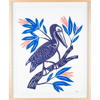 Stacey Elaine Pelican on a Flowering Branch Collage For Sale