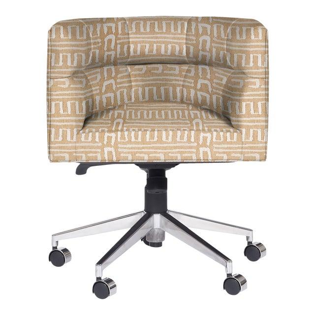 Casa Cosima Perry Desk Chair, Ester Linen For Sale