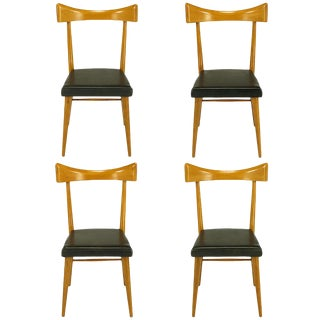 Four Paul McCobb Winchendon Open Back Dining Chairs For Sale