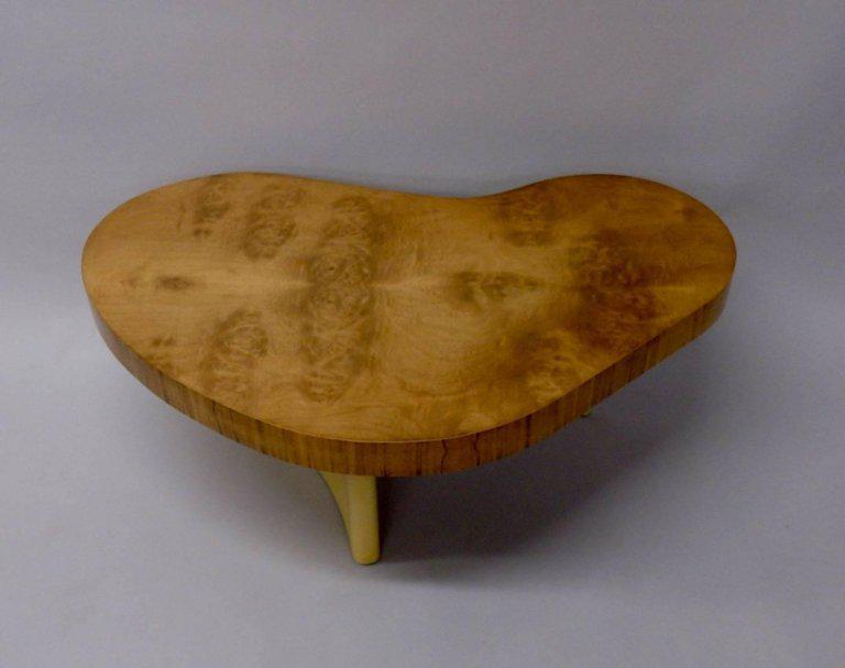 Art deco gilbert rohde herman miller burl top coffee table image 5 of 7