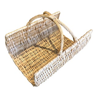 French Baguette Boulangerie Wicker Basket For Sale