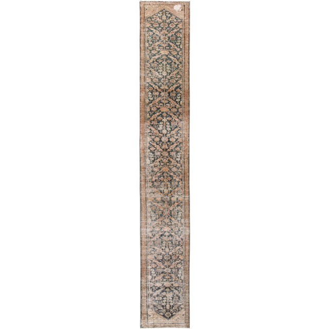 "Apadana-Antique Persian Distressed Rug, 2'4"" X 15'10"" For Sale"