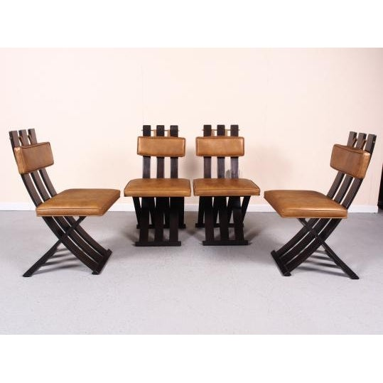 Rare & Outstanding Harvey Probber Games Table & Scissor Chairs For Sale In New York - Image 6 of 11