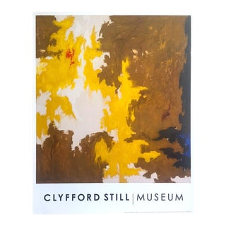 "Clyfford Still Abstract Expressionst Offset Lithograph Print Museum Poster "" Ph - 321 "" 1948 For Sale"