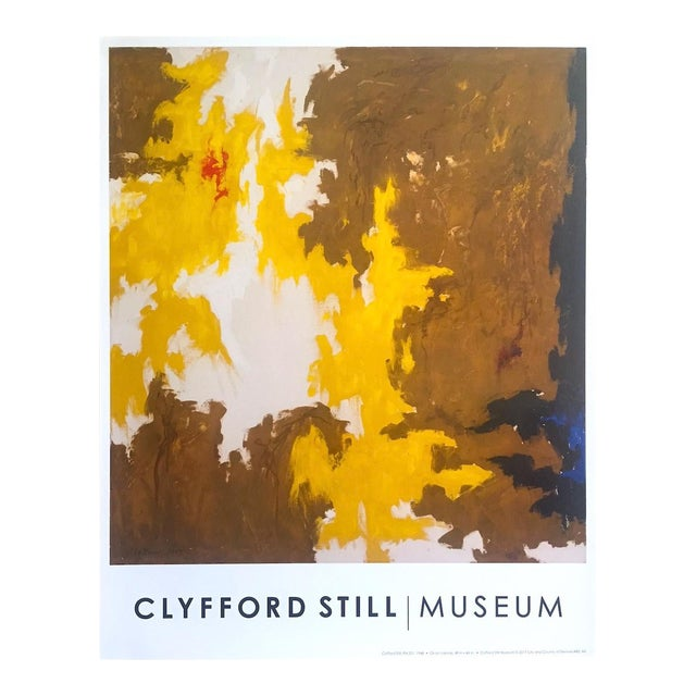 """Clyfford Still Abstract Expressionst Offset Lithograph Print Museum Poster """" Ph - 321 """" 1948 For Sale"""