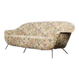 Mid Century Gio Ponti Style Italian Sofa For Sale