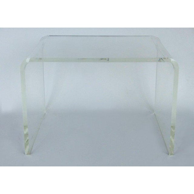 1970s 1970s Mid-Century Modern Lucite Waterfall Side Table For Sale - Image 5 of 8