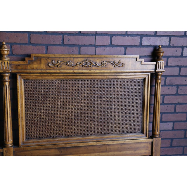 Drexel 20th Century French Regency Cane King/Cal King Headboard For Sale - Image 4 of 8