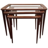 Image of Ico Parisi Italian Nesting Tables - Set of 3 For Sale
