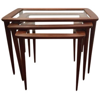 Ico Parisi Italian Nesting Tables - Set of 3 For Sale