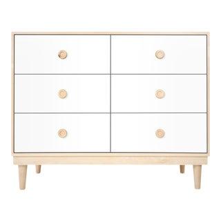 Nico & Yeye Lukka Modern Kids 6 Drawer Dresser Maple White For Sale