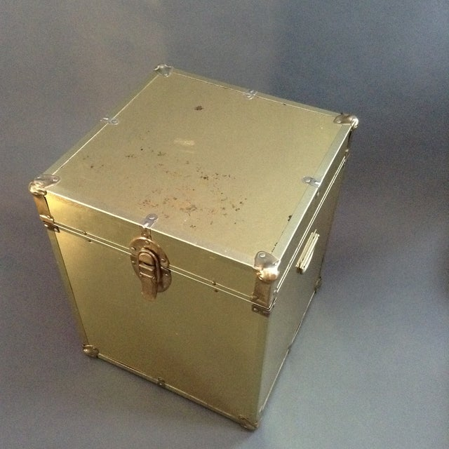 1970's Brass Clad Trunk - Image 4 of 7