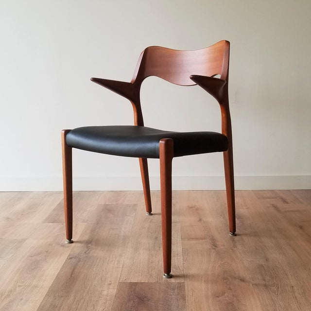 1960s Newly Upholstered Niels Moller Model 55 Dining Chair For Sale - Image 13 of 13