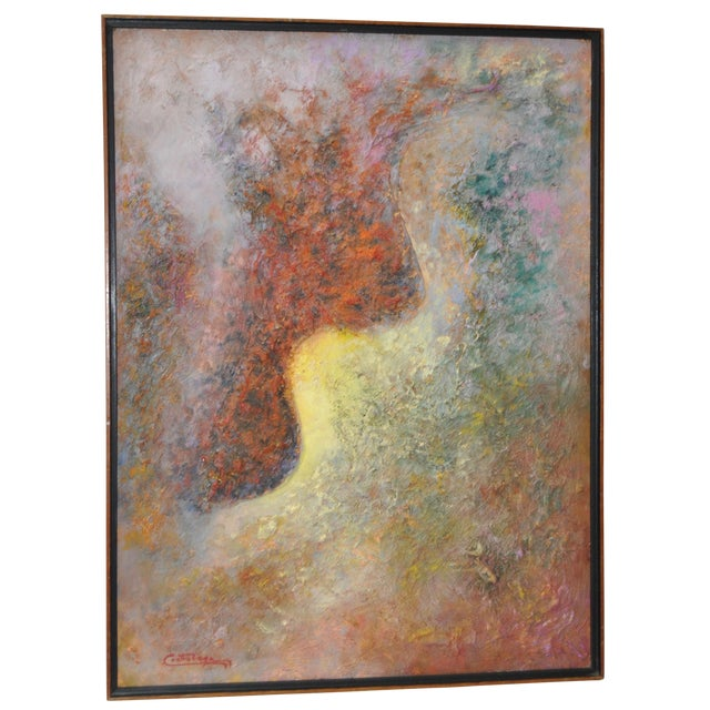 Vintage 1970s Abstract Painting For Sale