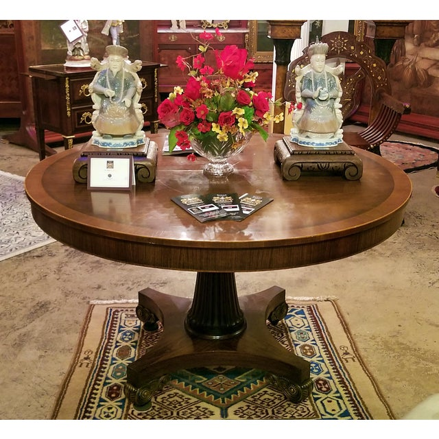 Late 19th Century American Mahogany Extendable Dining or Center Table For Sale - Image 10 of 13