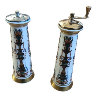 Lenox Lido Collection Salt Mill & Pepper Mill Set For Sale