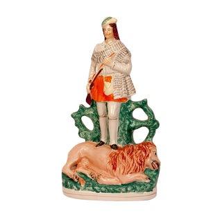Staffordshire Figure of the Scotch Hunter, England Circa 1860 For Sale