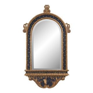 Italian Ebonized and a Parcel-Gilt Mirror For Sale
