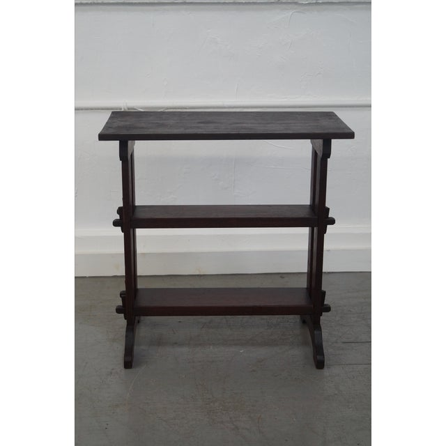 Roycroft Roycroft Antique Mission Mahogany Journeys Stand For Sale - Image 4 of 10