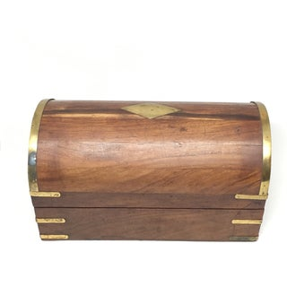 Bohemian Brass and Wood Chest