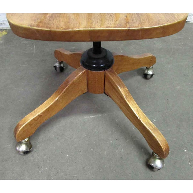 Windsor Chair on Casters For Sale - Image 9 of 9