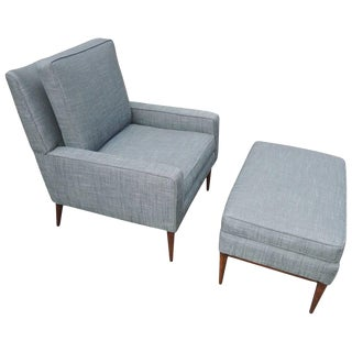 1950s Vintage Lounge Chair and Ottoman by Paul McCobb For Sale