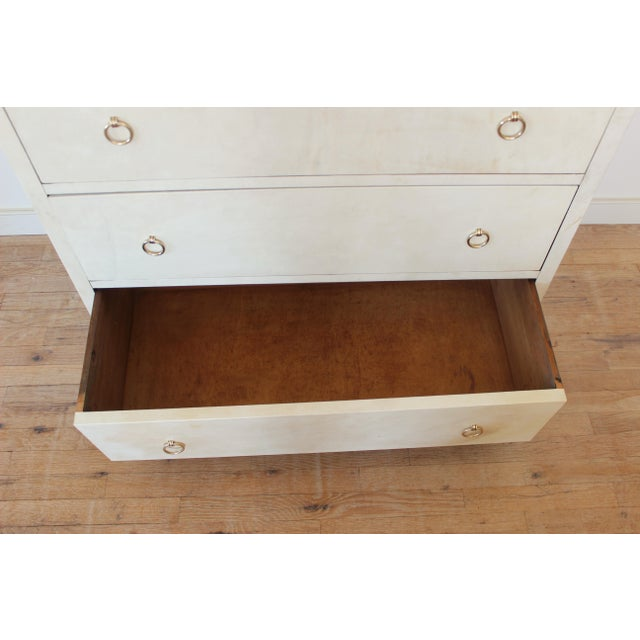 Gold 20th Century Modern Parchment Dresser For Sale - Image 8 of 11