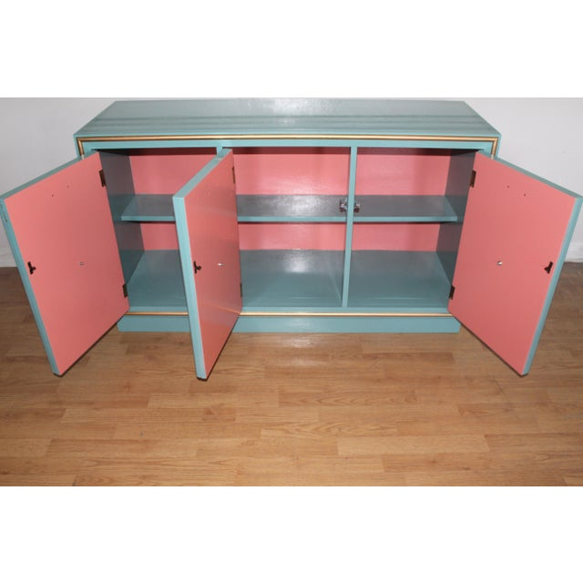 Hollywood Regency Lacquered Credenza or Sideboard For Sale - Image 6 of 11