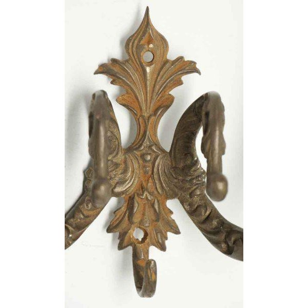Double Arm Gilded Bronze Hooks - A Pair For Sale - Image 4 of 6