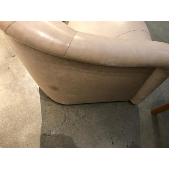 A. Rudin Leather Swivel Chairs - a Pair For Sale - Image 11 of 13