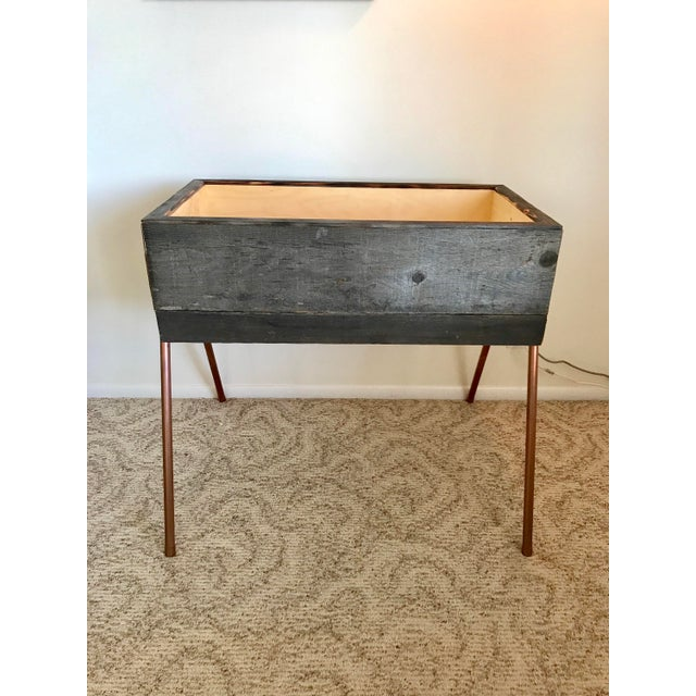 Reclaimed Wood & Copper Baby Bassinet - Image 3 of 5