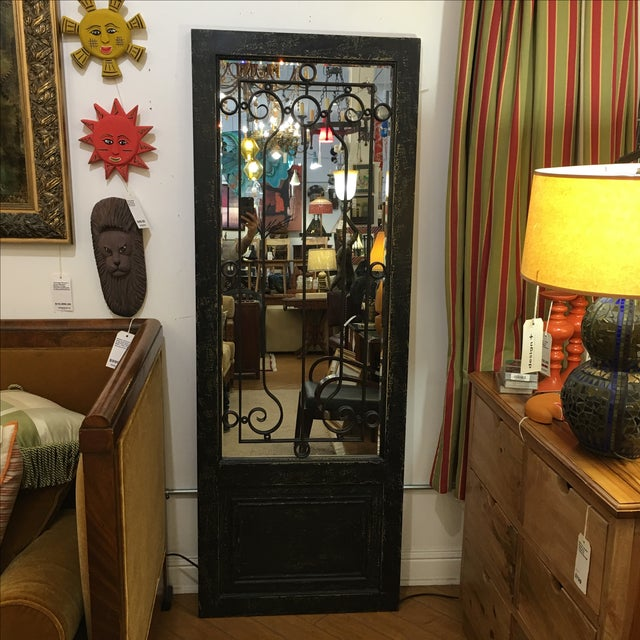 Uttermost Teulada Distressed Black Floor Mirror For Sale In San Francisco - Image 6 of 6