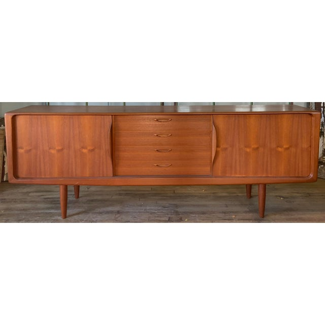 Danish 1950s Teak Credenza Cabinet For Sale - Image 11 of 11