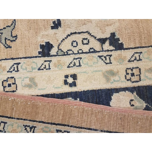 "Kafkaz Peshawar Angelina Brown & Blue Wool Rug - 10' x 13'9"" For Sale In New York - Image 6 of 7"