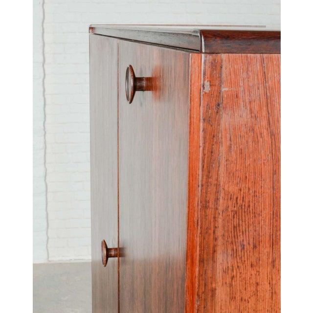 Glass Elegant Mid-Century Dutch Design Rosewood Bar Cabinet for Fristho Franeker, 1960s For Sale - Image 7 of 13