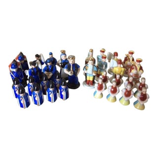 Circa 1976 Herend Porcelain Chess Set Limited Edition For Sale