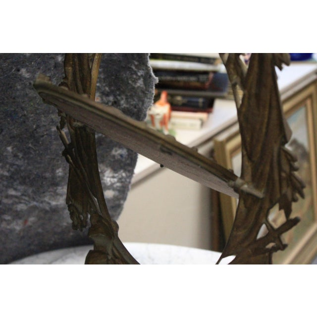 Gothic Style Military Motif Table Mirror For Sale - Image 4 of 8
