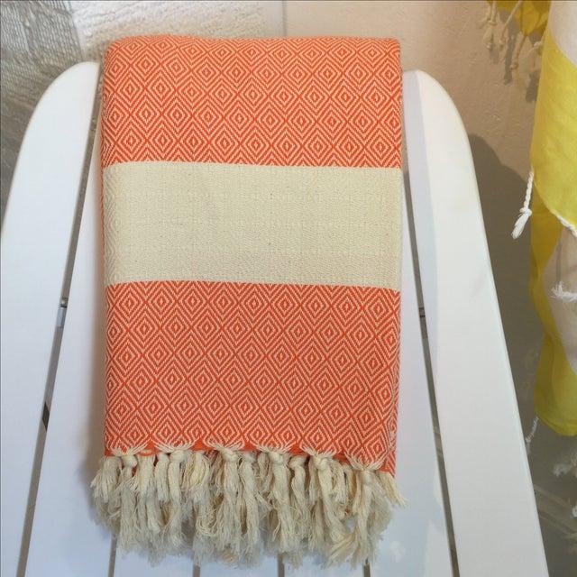 Turkish Orange Coverlet - Image 2 of 3