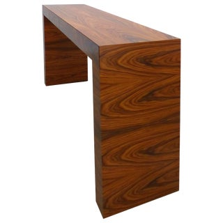 Umberto Asnago for Mobilidea Minimalist Rosewood Console Table, Italy For Sale