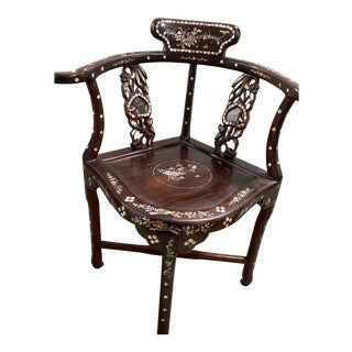 Asian Corner Chair For Sale