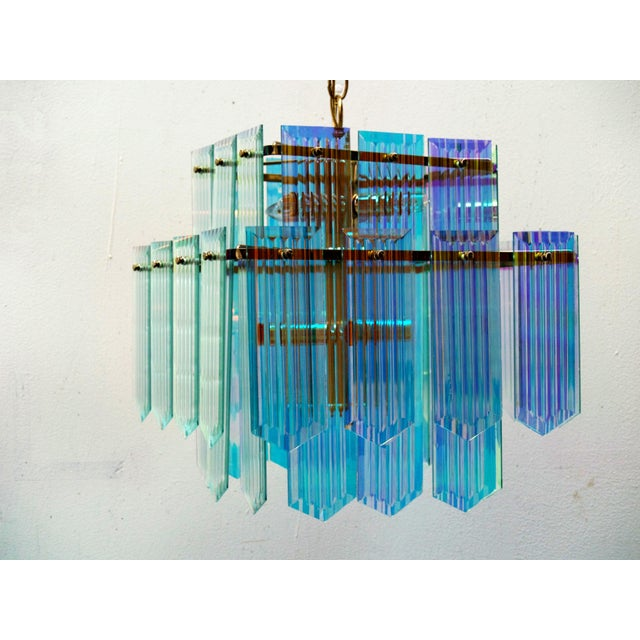 Dichroic Swag Chandelier - Image 4 of 7