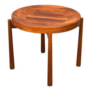 Jens Quistgaard Solid Teak Tray Table for Dux For Sale
